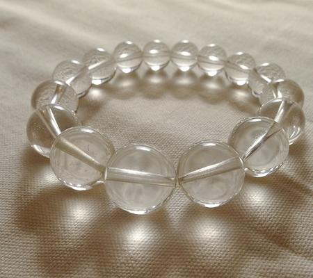 ヒマラヤ水晶ブレスレット透明丸玉132-7