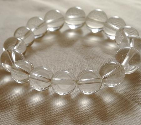 ヒマラヤ水晶ブレスレット透明丸玉132-9