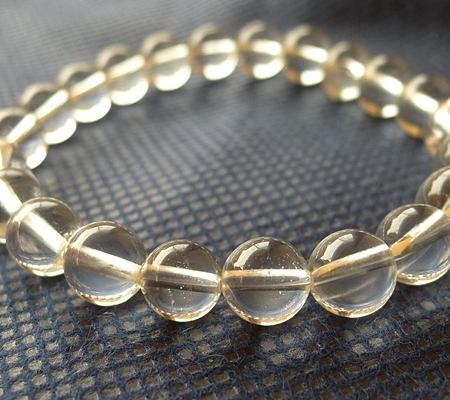 ヒマラヤ水晶ブレスレット透明丸玉133-3