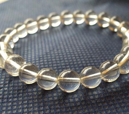 ヒマラヤ水晶ブレスレット透明丸玉134-3