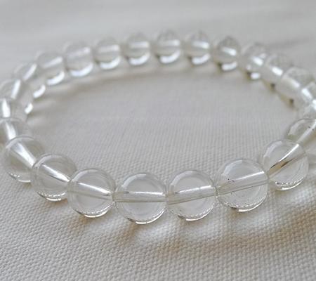 ヒマラヤ水晶ブレスレット透明丸玉134-7
