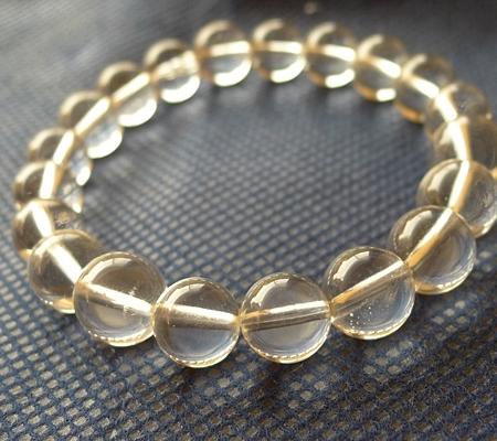ヒマラヤ水晶ブレスレット透明丸玉136-4