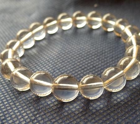 ヒマラヤ水晶ブレスレット透明丸玉136-5