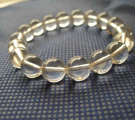 ヒマラヤ水晶ブレスレット透明丸玉139-2
