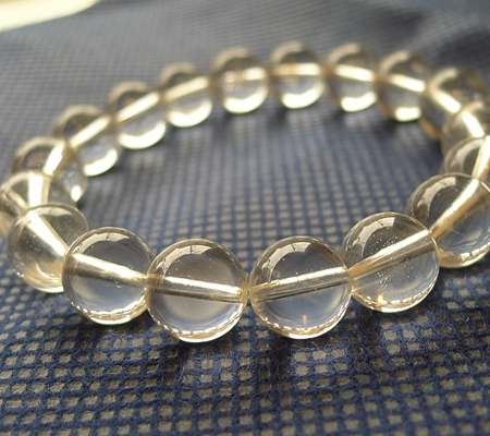 ヒマラヤ水晶ブレスレット透明丸玉139-3
