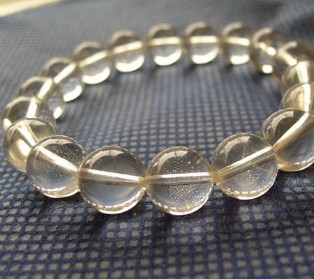 ヒマラヤ水晶ブレスレット透明丸玉139-4
