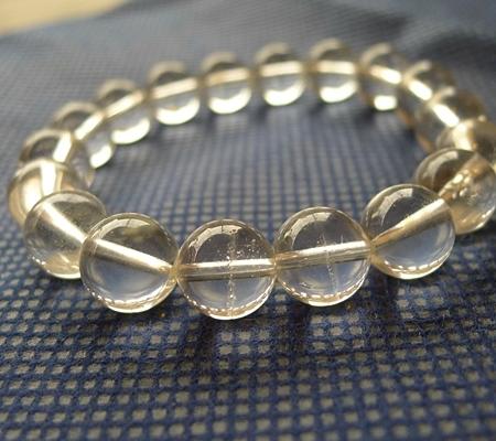 ヒマラヤ水晶ブレスレット透明丸玉139-5