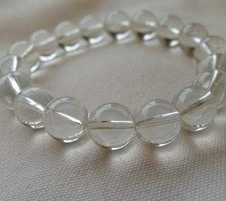ヒマラヤ水晶ブレスレット透明丸玉139-7