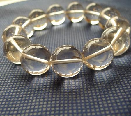 ヒマラヤ水晶ブレスレット透明丸玉140-2