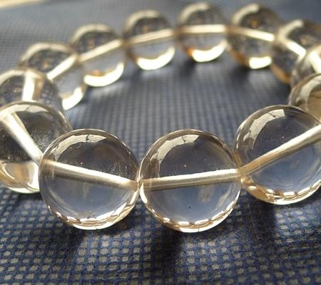 ヒマラヤ水晶ブレスレット透明丸玉140-4