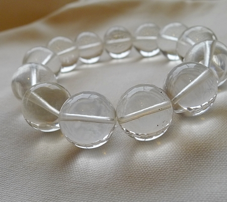 ヒマラヤ水晶ブレスレット透明丸玉140-7