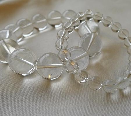 ヒマラヤ水晶ブレスレット透明丸玉140-8