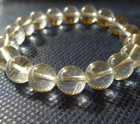 ヒマラヤ水晶ブレスレット透明丸玉141-2