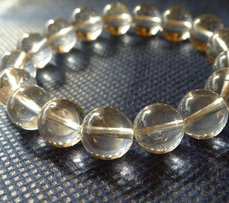 ヒマラヤ水晶ブレスレット透明丸玉142-2