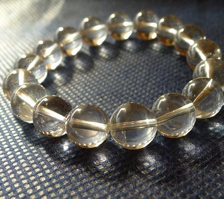 ヒマラヤ水晶ブレスレット透明丸玉142-4