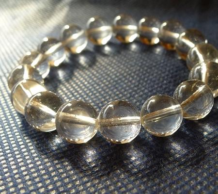 ヒマラヤ水晶ブレスレット透明丸玉142-5