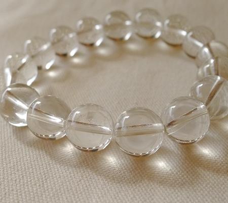 ヒマラヤ水晶ブレスレット透明丸玉142-8