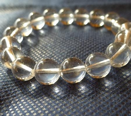 ヒマラヤ水晶ブレスレット透明丸玉143-4