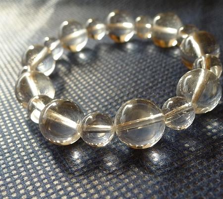 ヒマラヤ水晶ブレスレット透明丸玉144-5