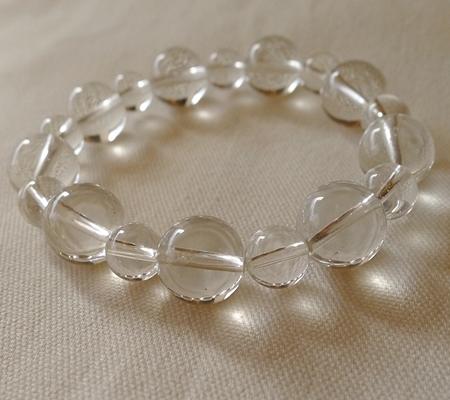 ヒマラヤ水晶ブレスレット透明丸玉144-6
