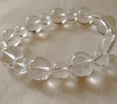 ヒマラヤ水晶ブレスレット透明丸玉144-7