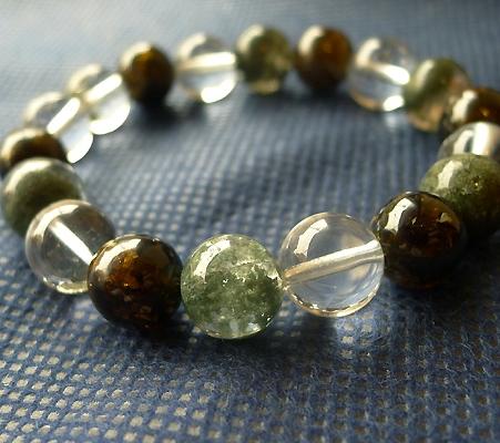 ヒマラヤ水晶ブレスレット内包物入り089-3
