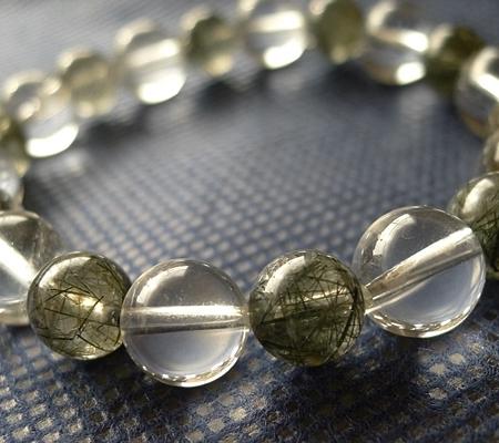 ヒマラヤ水晶ブレスレット内包物入り109-2