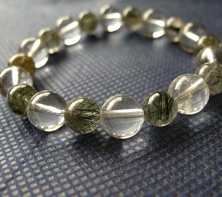ヒマラヤ水晶ブレスレット内包物入り109-4