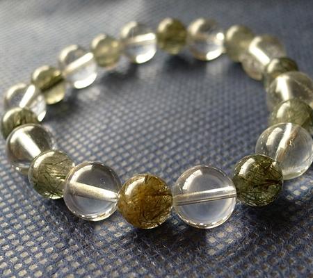 ヒマラヤ水晶ブレスレット内包物入り109-5