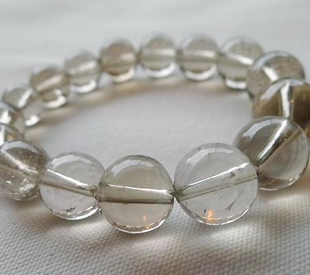 ヒマラヤ水晶ブレスレットスモーキークォーツ030-10