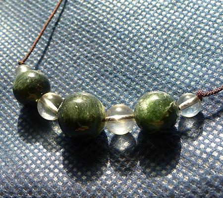 ヒマラヤ水晶丸玉デザインチョーカー035-7