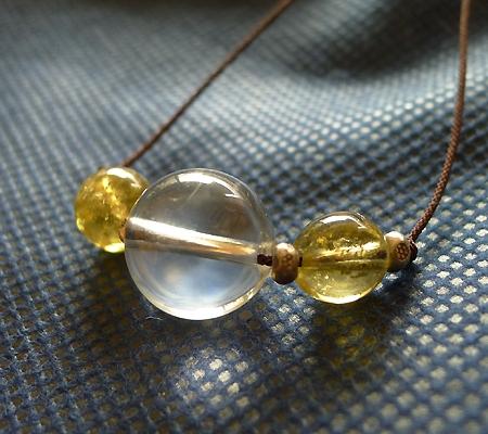 ヒマラヤ水晶丸玉デザインチョーカー039-2