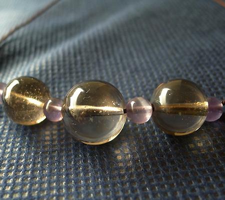 ヒマラヤ水晶丸玉デザインチョーカー041-2