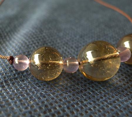 ヒマラヤ水晶丸玉デザインチョーカー041-4