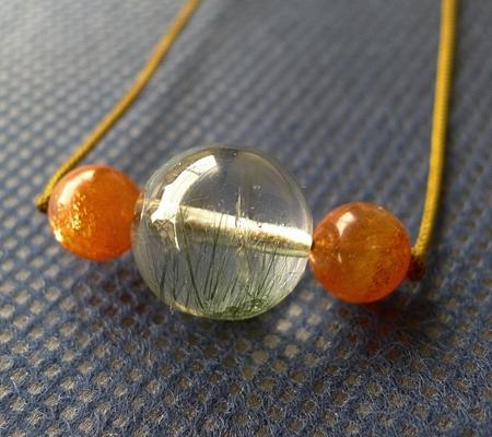 ヒマラヤ水晶丸玉デザインチョーカー046-4