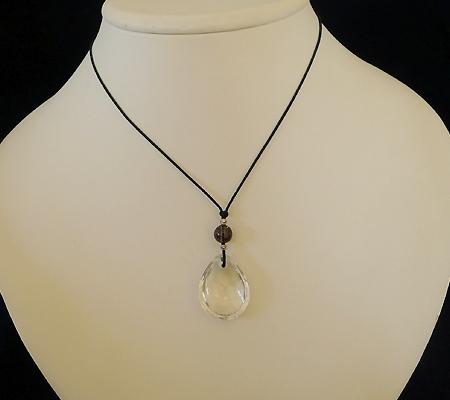 ヒマラヤ水晶紐付きチョーカー026-10