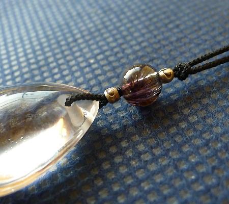 ヒマラヤ水晶紐付きチョーカー026-3