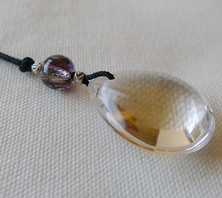 ヒマラヤ水晶紐付きチョーカー026-7