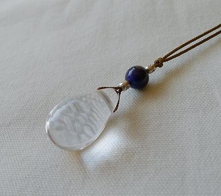 ヒマラヤ水晶紐付きチョーカー027-5
