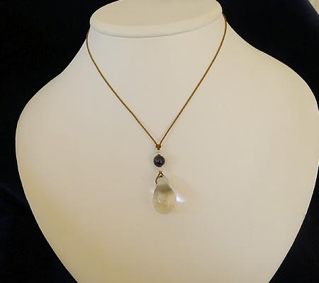 ヒマラヤ水晶紐付きチョーカー027-8