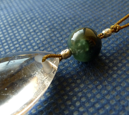 ヒマラヤ水晶紐付きチョーカー028-3
