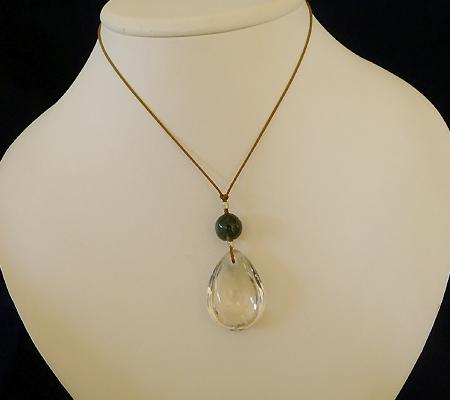 ヒマラヤ水晶紐付きチョーカー028-9