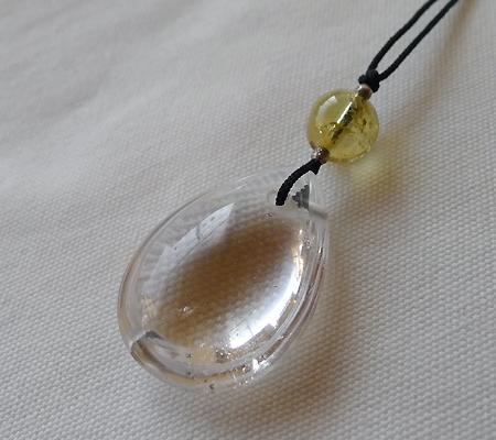 ヒマラヤ水晶紐付きチョーカー029-5