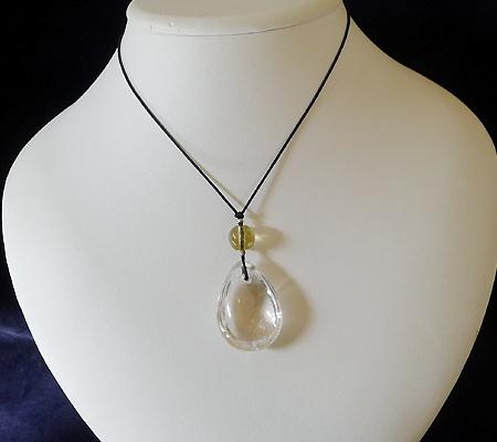 ヒマラヤ水晶紐付きチョーカー029-9