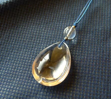 ヒマラヤ水晶紐付きチョーカー032-5