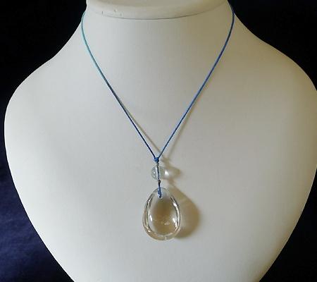 ヒマラヤ水晶紐付きチョーカー032-9