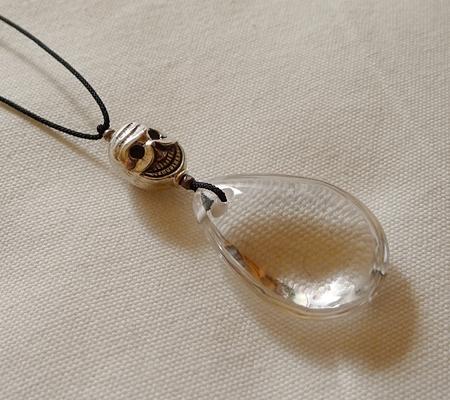 ヒマラヤ水晶紐付きチョーカー033-3