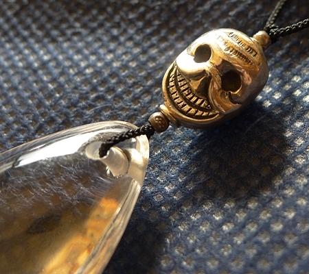 ヒマラヤ水晶紐付きチョーカー033-5