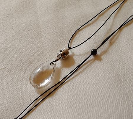 ヒマラヤ水晶紐付きチョーカー033-6