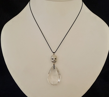 ヒマラヤ水晶紐付きチョーカー033-7